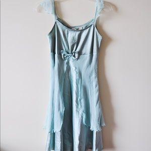 Lotus-edged Silk Dress